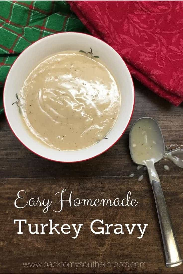 Easy Homemade Turkey Gravy from Drippings. I love this easy recipe for turkey gravy. It takes less than five minutes and tastes rich and delicious on your mashed potatoes, turkey, and anything else you want to pour it on.