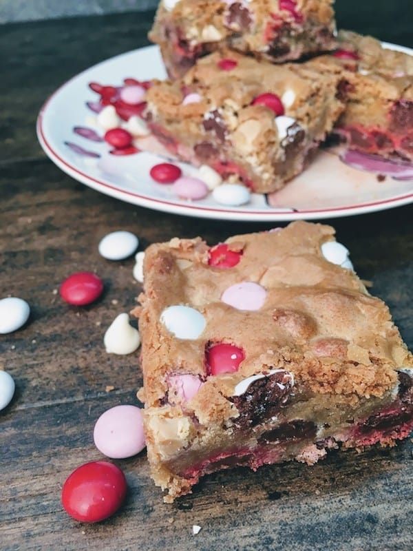 It's Valentine's Day and these blondies are easy to make and the perfect gift for your loved ones. The Valentine's Day Blondie Dessert Recipe is a favorite here at our house and makes the perfect gift for teachers, friends, and loved ones. Be sure to grab the recipe for the Valentine's Day Blondies.