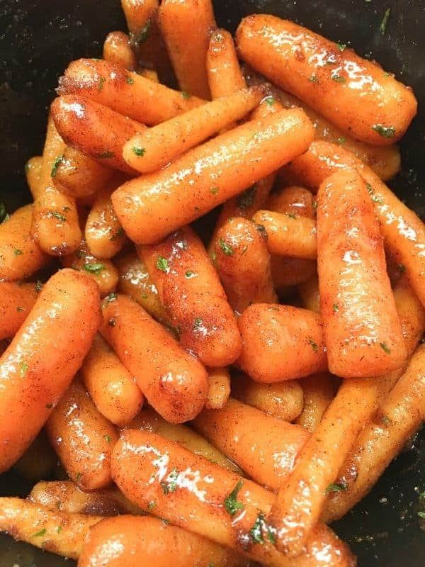 Slow Cooker Glazed Carrots with Brown Sugar is a delicious side dish for any meal, including holidays. The carrots are perfect for Thanksgiving, Christmas, and Easter. They are easy to make and only take a few minutes to prepare.