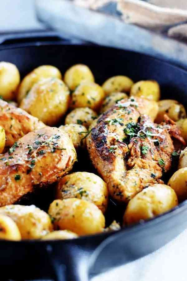 Skillet Lemon Chicken and Potatoes - Soulfully Made