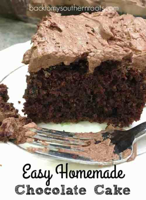 Chocolate Cake with Buttercream Frosting is an easy dessert to make