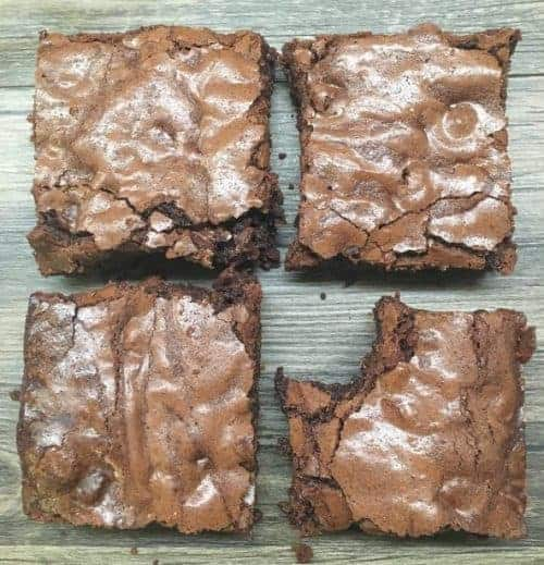Easy homemade brownies with chocolate chips
