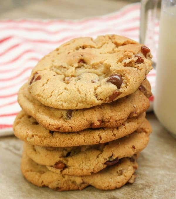 Easy Homemade Cookies with brown sugar, pecans, and chocolate chips