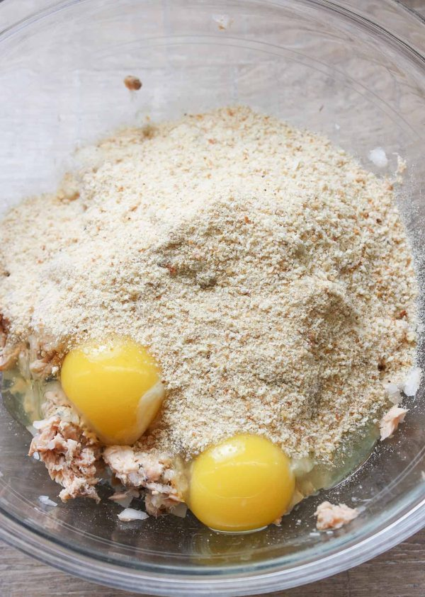 Breadcrumbs are a great way to hold the salmon patties together. The Southern dish is a favorite in the south.