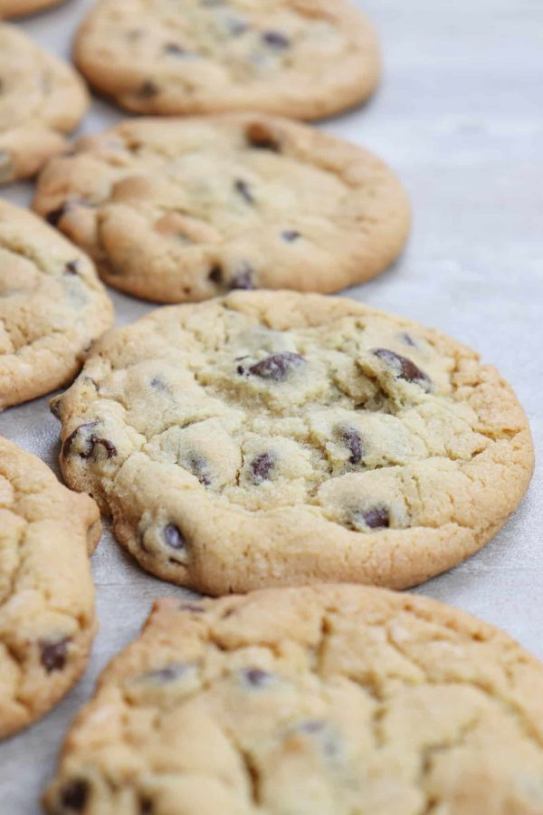 Chocolate chip cookies with pudding are an easy dessert to fix. And once you get a hold of one, they are hard to put down.