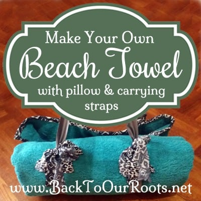 how to make a beach towel with pillow