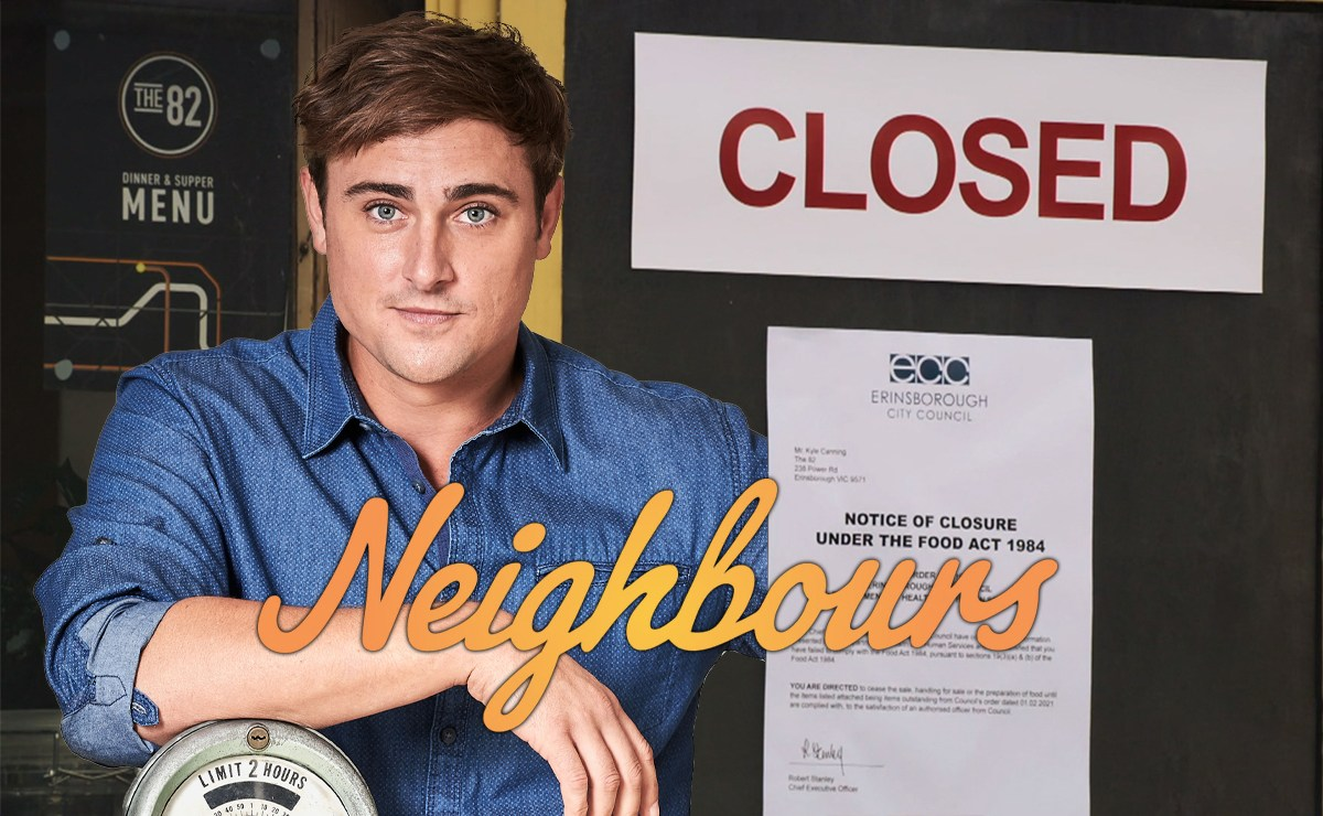 Neighbours Spoilers – Kyle's forced to close The 82, as Amy sabotages Shane and Dipi