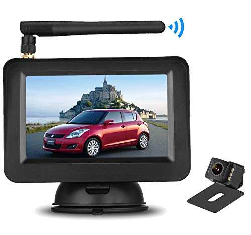 MN03 Minivans Peizeen Wireless Backup Camera with 4.3 LCD Screen HD Rear View Camera Kit Waterproof Reverse Cam Parking Lines for Cars SUV Minibus