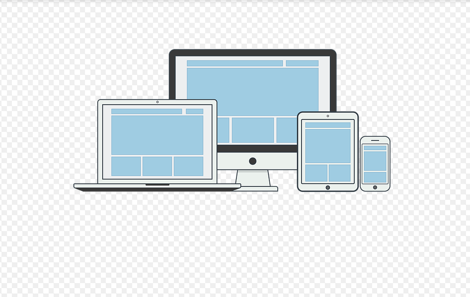 Icon of laptop, phone and a computer monitor