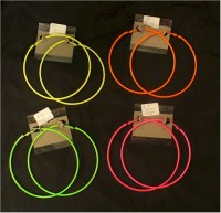 Extra large hoop earrings: neon