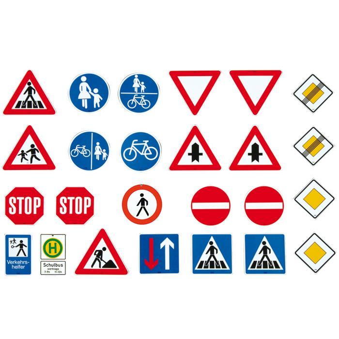 Die wichtigsten verkehrszeichen für fahrradfahrer