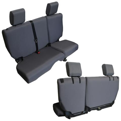 Jeep JKU Seat Covers Rear Split Bench 13-17 Wrangler JKU Baseline Performance Graphite Bartact