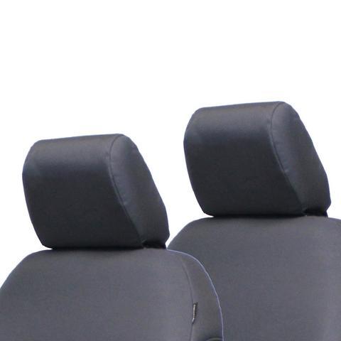 Jeep JK Bench Headrest Covers 07-10 Wrangler JK 4 Door Tactical Series Graphite Bartact