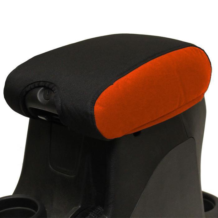 Jeep Center Console Cover Padded 11-17 Wrangler JK/JKU Orange/Black Bartact 1