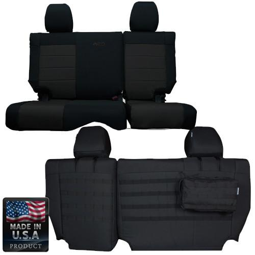 Jeep JK Seat Covers Rear Split Bench 08-10 Wrangler JK 4 Door Tactical Series Coyote/Coyote Bartact