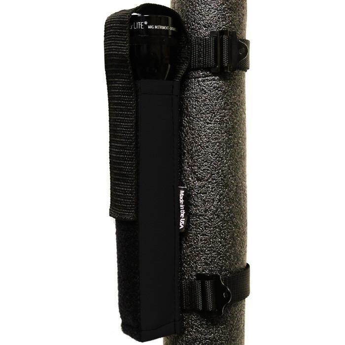 Roll Bar Multi D Cell Flashlight Holder Black Bartact