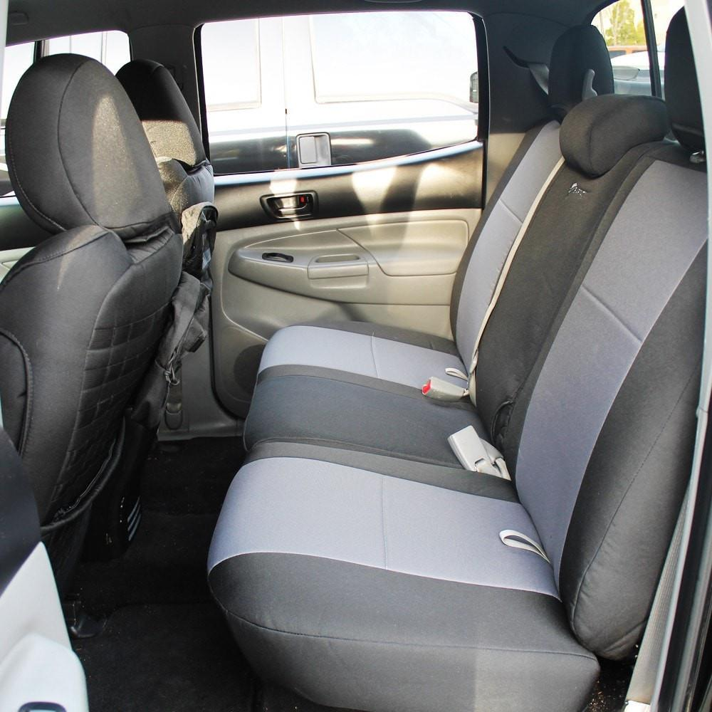 Tacoma Rear Bench Seat Covers 09-15 Toyota Tacoma Double Cab Tactical Series Black/Coyote Bartact