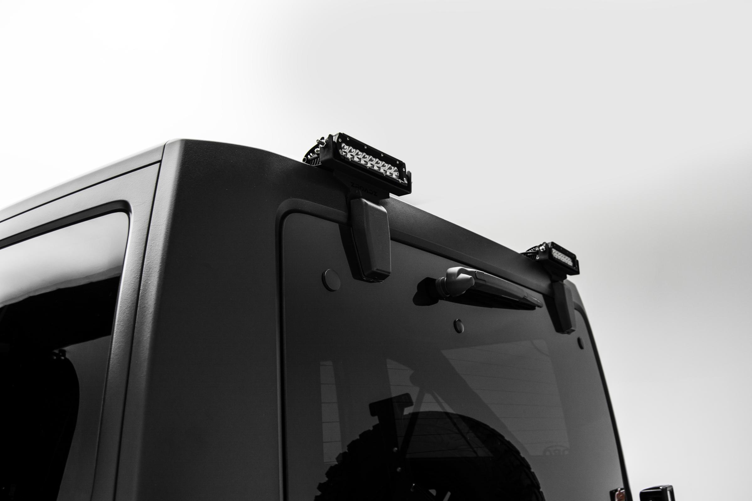 Universal Wiring Harness For Single Led Light Bars 200 Watt Zroadz Jeep Hardtop 6 Inch Row Slim Line Mount Kit Rear Window Hinges 2007 2017 Wrangler