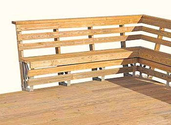 Wooden Deck Railing Bench Plans Macho10zst