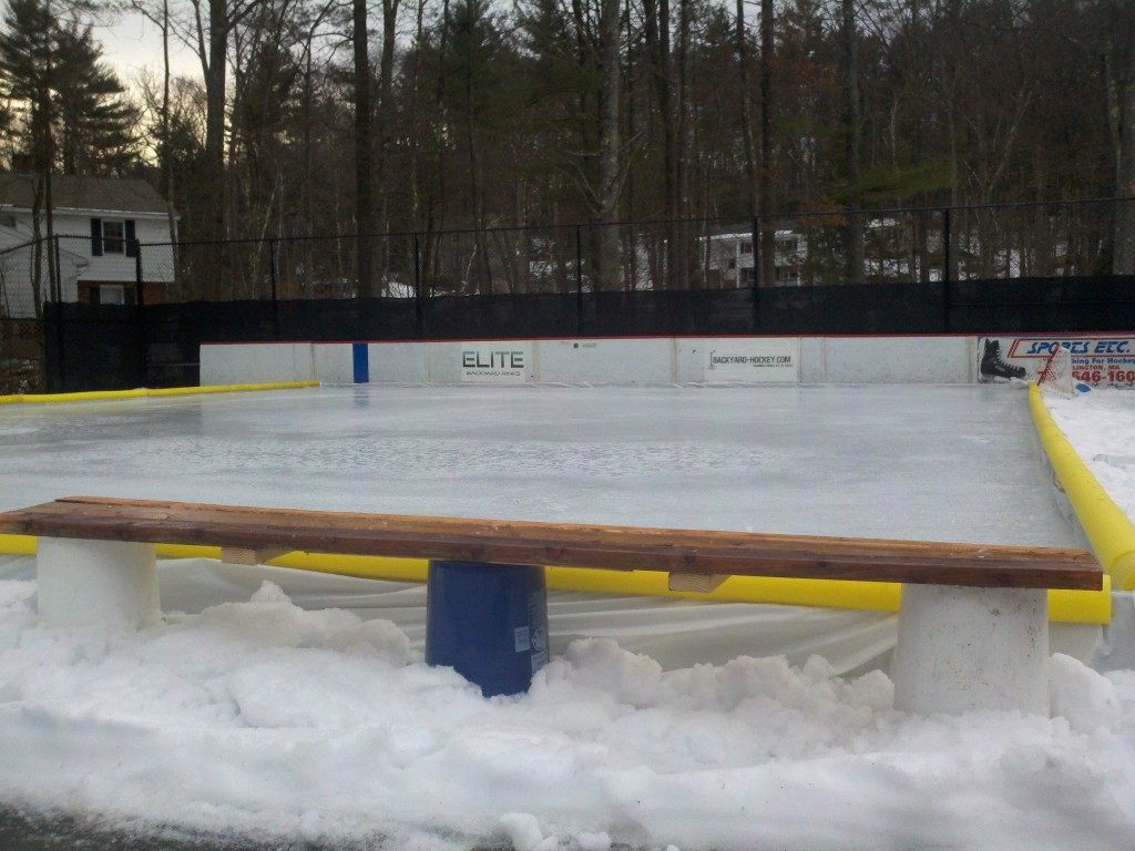How To Build A Backyard Rink Bench for 20 or less