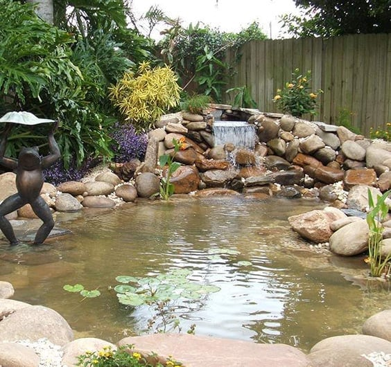 backyard and garden waterfall