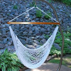 Rope Chair Swing Mid Century Modern Wood Poly Hammock 4987 Click To Enlarge