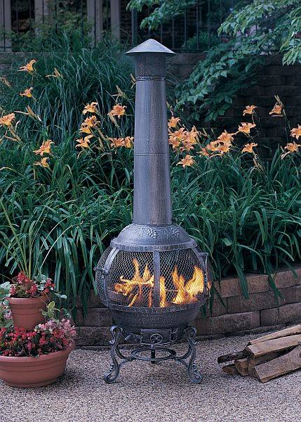 wicker rocking chairs build an adirondack chair arctic cast iron chiminea - surround style arp-chim-sur-fp