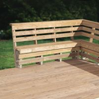 Corner Patio Bench Plans DIY Free Download Garage Plans
