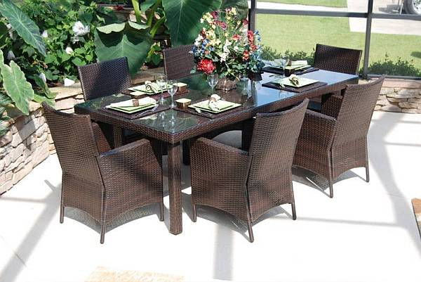 heavy duty resin patio chairs best gaming chair under 100 lantana 7 pc. wicker dining set - cil-7