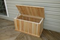 Classic Tall 5ft White Cedar Deck Box - 16154