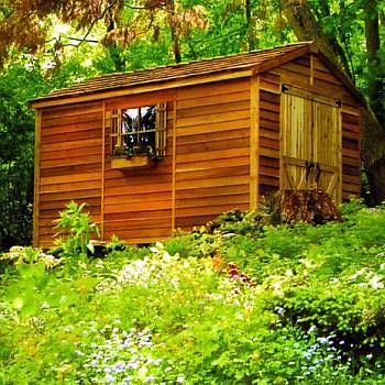 Rancher Cedar Storage Shed