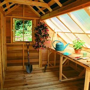 Cedar Garden Shed Interior