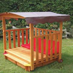 Exterior Rocking Chairs Power Lift Reviews Exaco Rolling Playhouse Covered Sandbox -