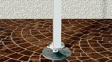 Deck Mount Plate Base for FIM Umbrellas or Flexy Awnings