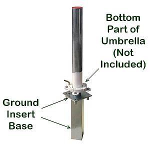 FIM Ground Insert Base for Sidepost  Offset Pole