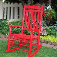 Wicker Rocking Chair Outside Lifts Slat Back - Ofrf