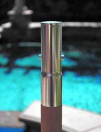 Replacement Bottom Pole - Teak - Galtech Teak Umbrella ...