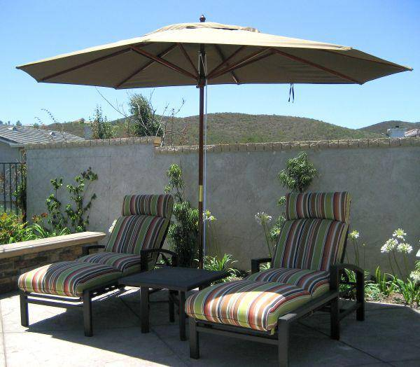 8 ft x 11 Ft Oval Market Umbrella  Made in the Shade by