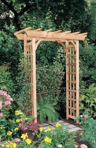 Wooden Garden Arbor