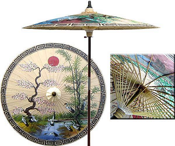 Oriental Umbrella 7ft Diameter  0001c11