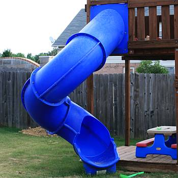 all weather rocking chairs indoor hanging egg swing chair super tube spiral slide - 7ft, 8ft, 9ft 10ft decks starts at $879