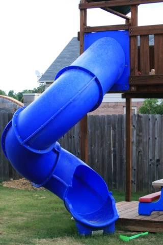 Blue Super Tube Spiral Slide