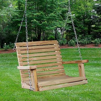 Pine Wood Chair Swing
