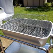 Portable Kitchen Cast Aluminum Charcoal Grill And