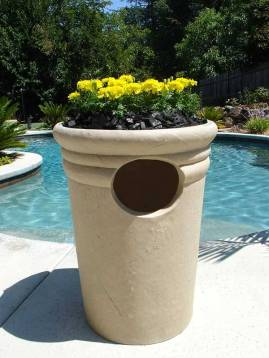 Pool Side Planter, Trash Receptacle