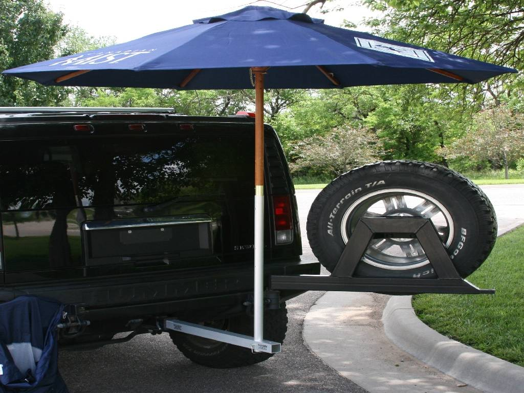 Umbrella Stand Tailgating Support System