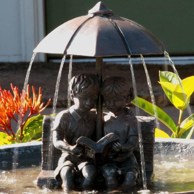 Umbrella Series Solar FountainBench  20326R01