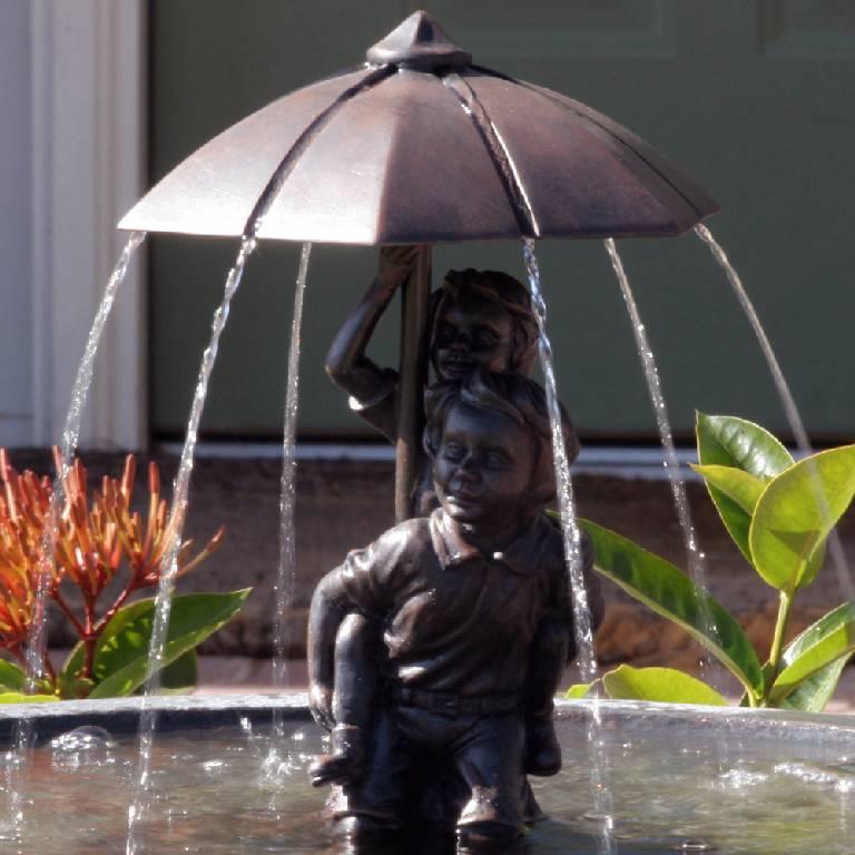 Umbrella Series Solar FountainPiggyback  20336R01