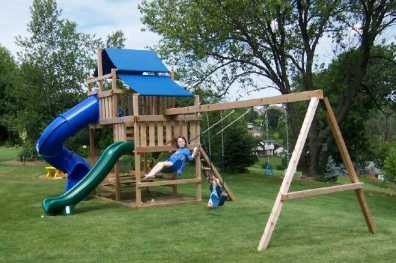 Wooden Swing Set Kit