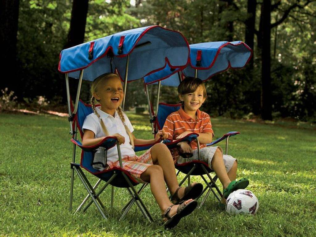 Kids Chair with Shade Canopy  sc 1 st  Backyard City & A Little Slice of Shade for Outdoor Loving Kids - Outdoor Patio Ideas
